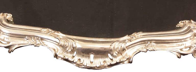 French Silvered Centerpiece, Surtout de Table, stamped Bointaburet a Paris 9