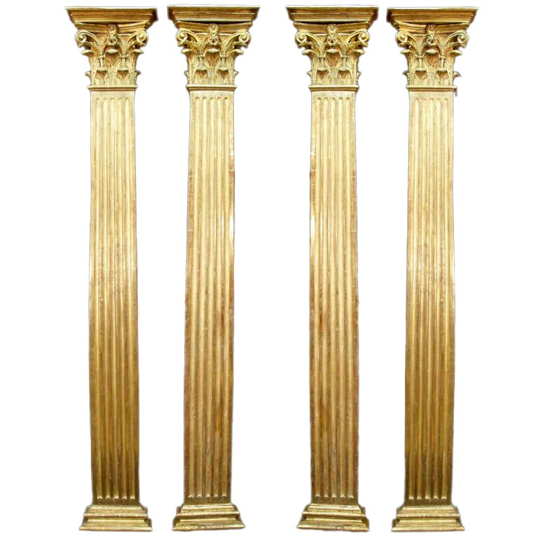 Set Of Four French Mid 19th Century Louis Xvi St Fluted Columns At 1stdibs