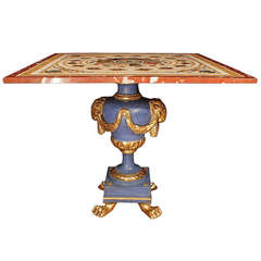 Italian Early 19th Century Pietra Dura Marble Center Table