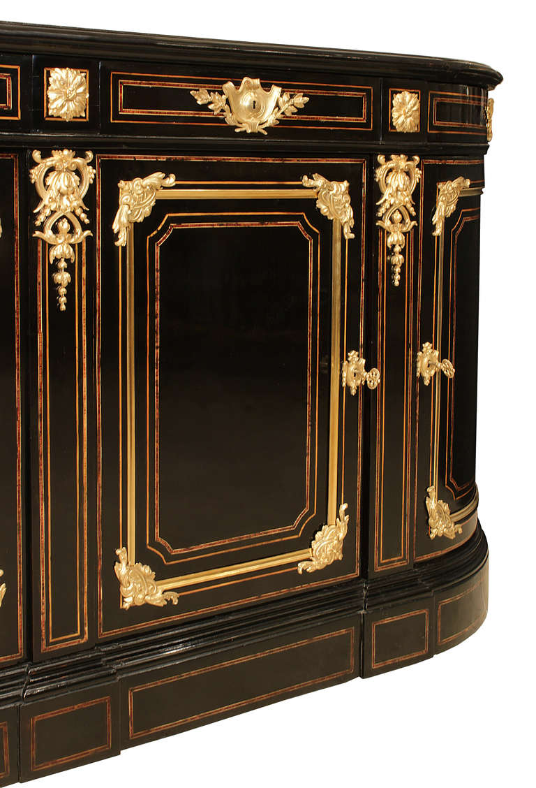 french 19th century napoleon iii period ebony and ormolu grand buffet for sale at 1stdibs. Black Bedroom Furniture Sets. Home Design Ideas