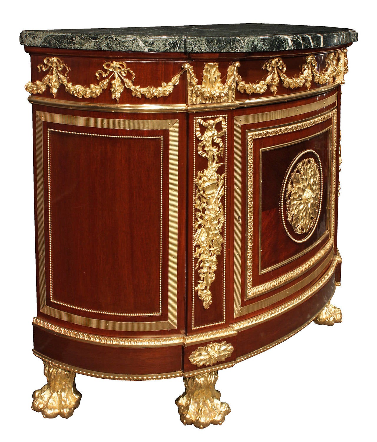french 19th century louis xvi style mahogany and ormolu commode une porte at 1stdibs. Black Bedroom Furniture Sets. Home Design Ideas