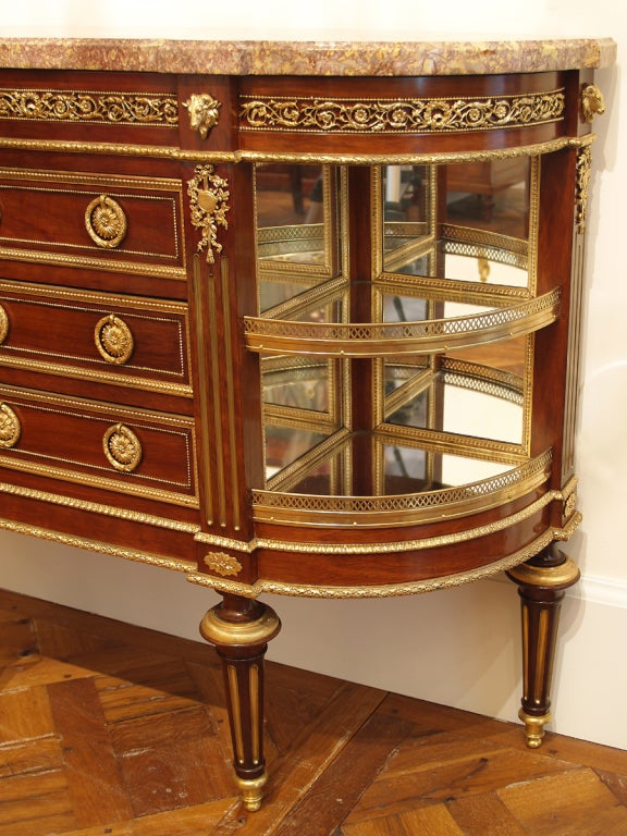 french louis xvi period dessert console signed pafrat for sale at 1stdibs. Black Bedroom Furniture Sets. Home Design Ideas