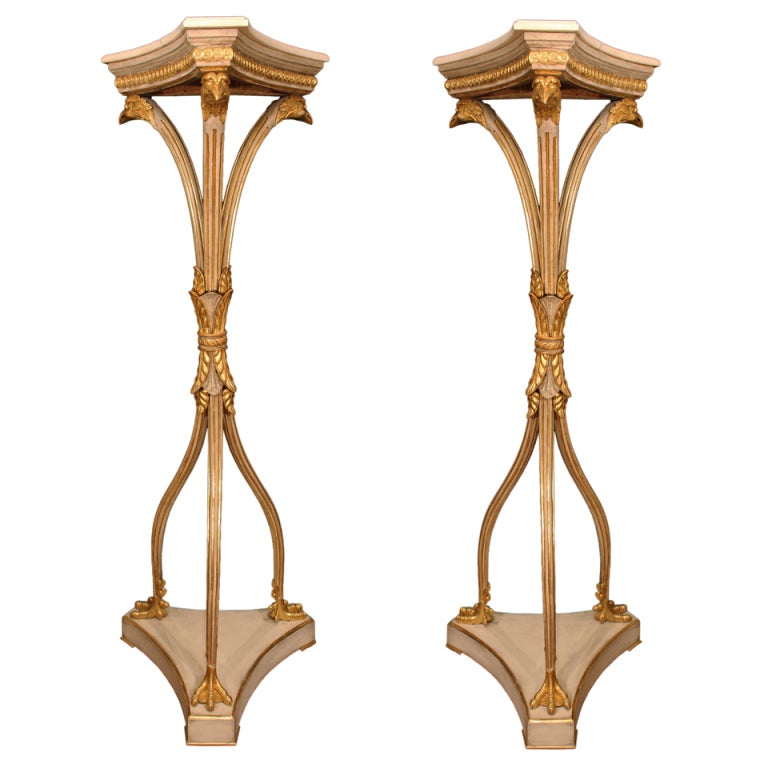 Pair of Italian Mid-19th Century Neoclassical Style Pedestals