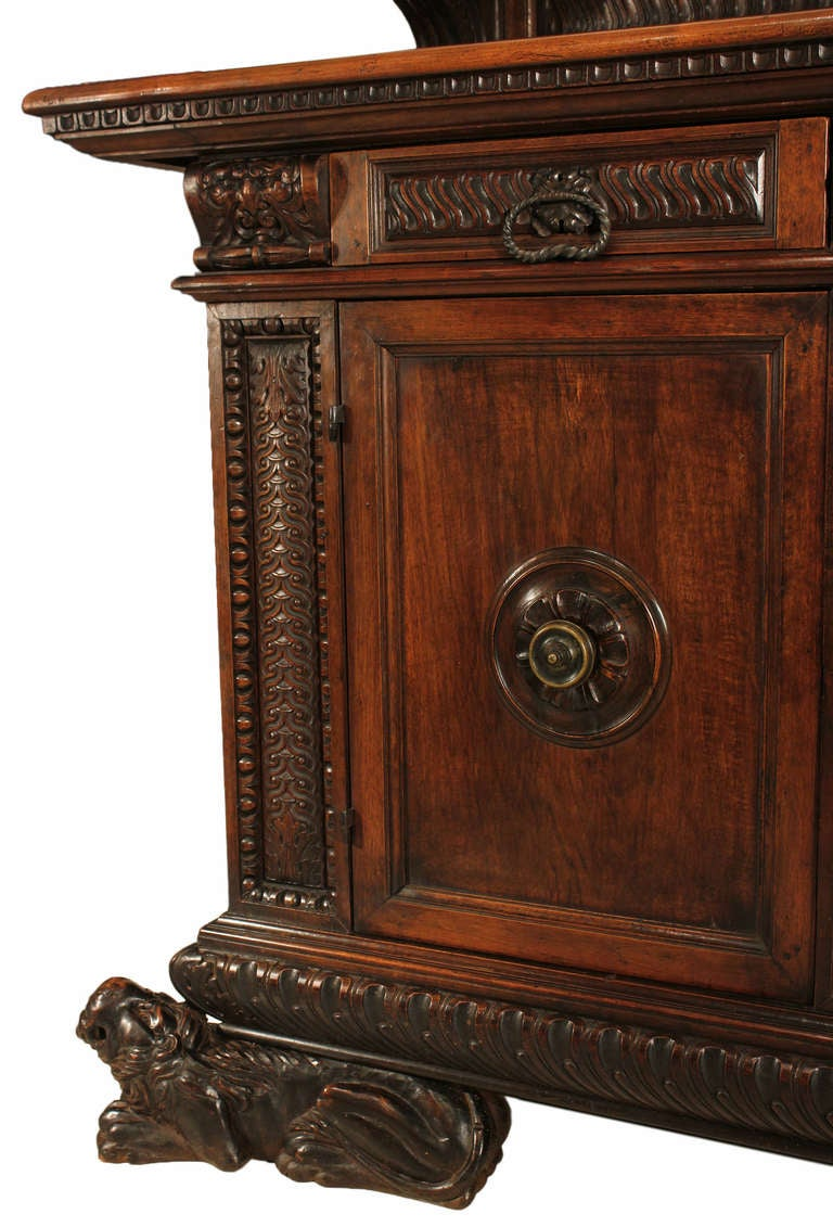 19th century italian baroque walnut buffet for sale at 1stdibs - Buffet baroque blanc ...