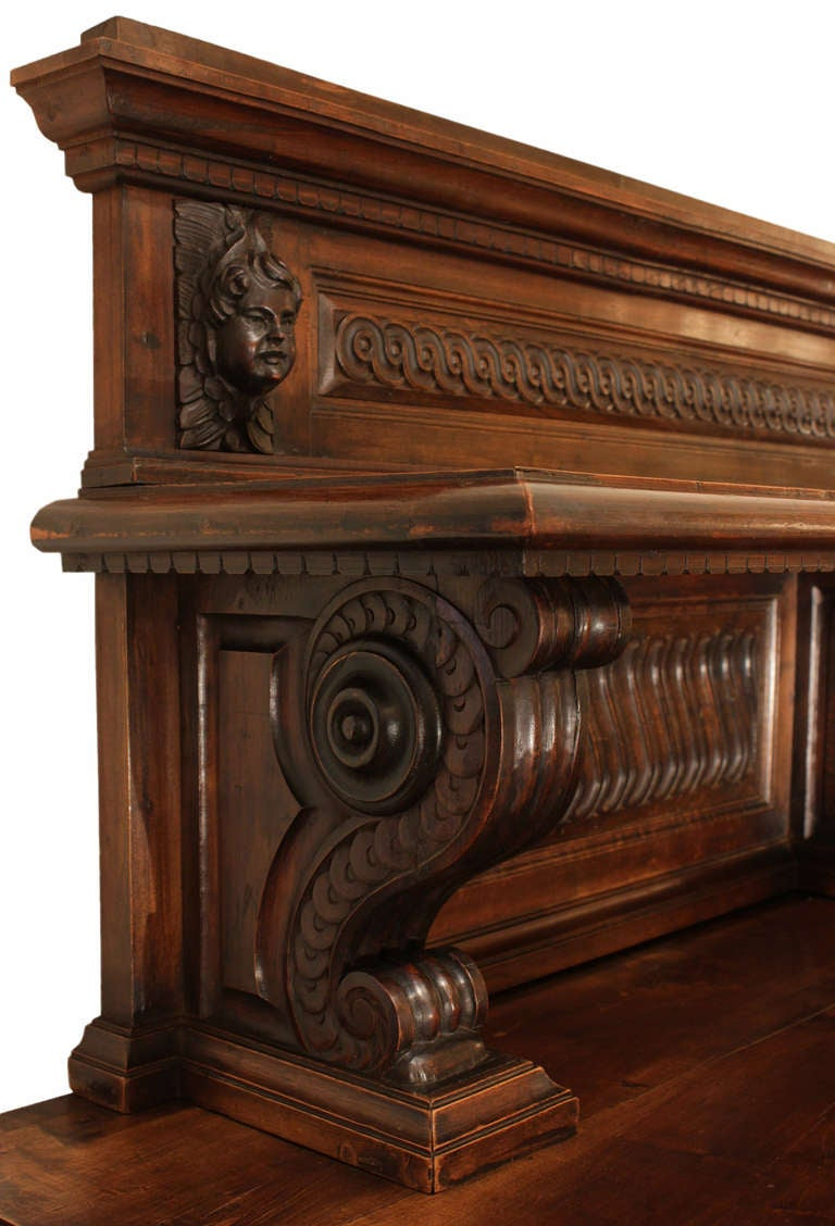 19th century italian baroque walnut buffet for sale at 1stdibs. Black Bedroom Furniture Sets. Home Design Ideas