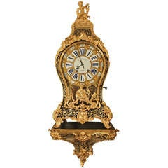 French 18th Century Louis XV Period Boulle Cartel Clock Signed Le Faucheur