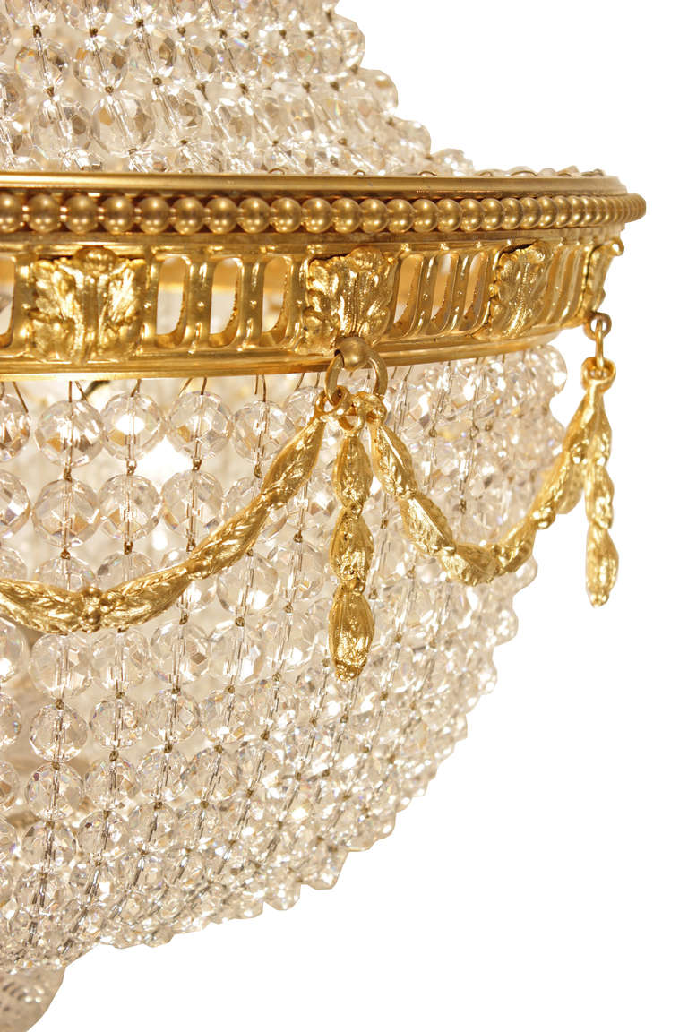 French 19th Century Louis Xvi Style Baccarat Crystal And