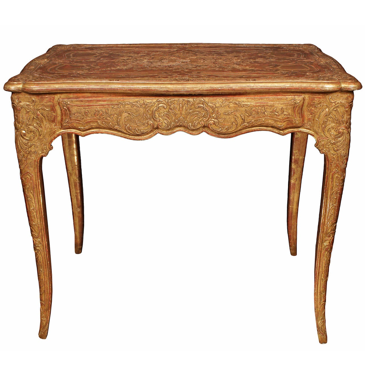 French Late 18th Century Louis XV Period Giltwood Side Table