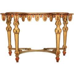 Italian mid 19th century Venetian Lacca Povera console
