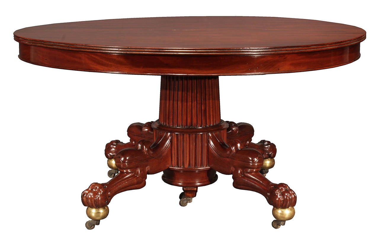 french 19th century restauration period mahogany dining table at