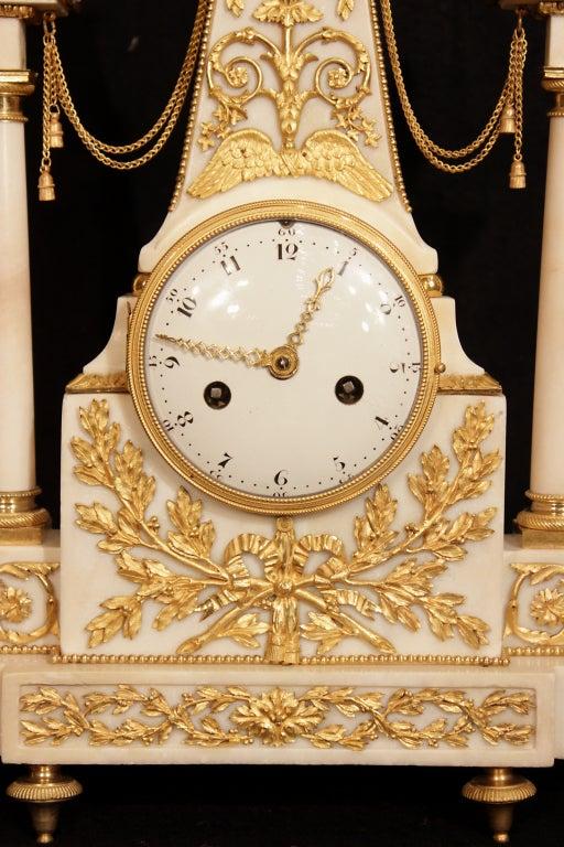 a louis xvi period circa 1780 carrara marble signed. Black Bedroom Furniture Sets. Home Design Ideas
