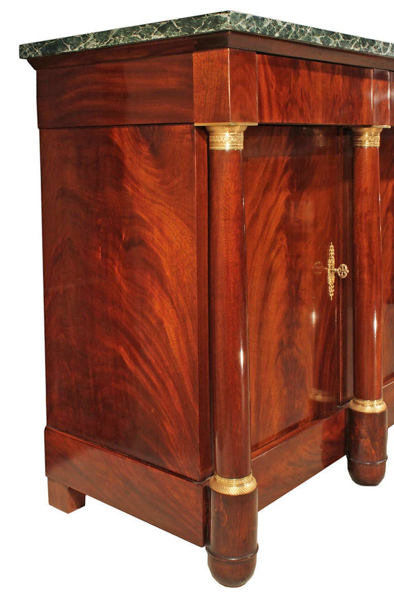 A French 19th Century Empire St Flamed Mahogany Buffet At 1stdibs
