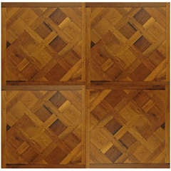 Authentic Reclaimed French Antique Wood Oak Flooring 17th