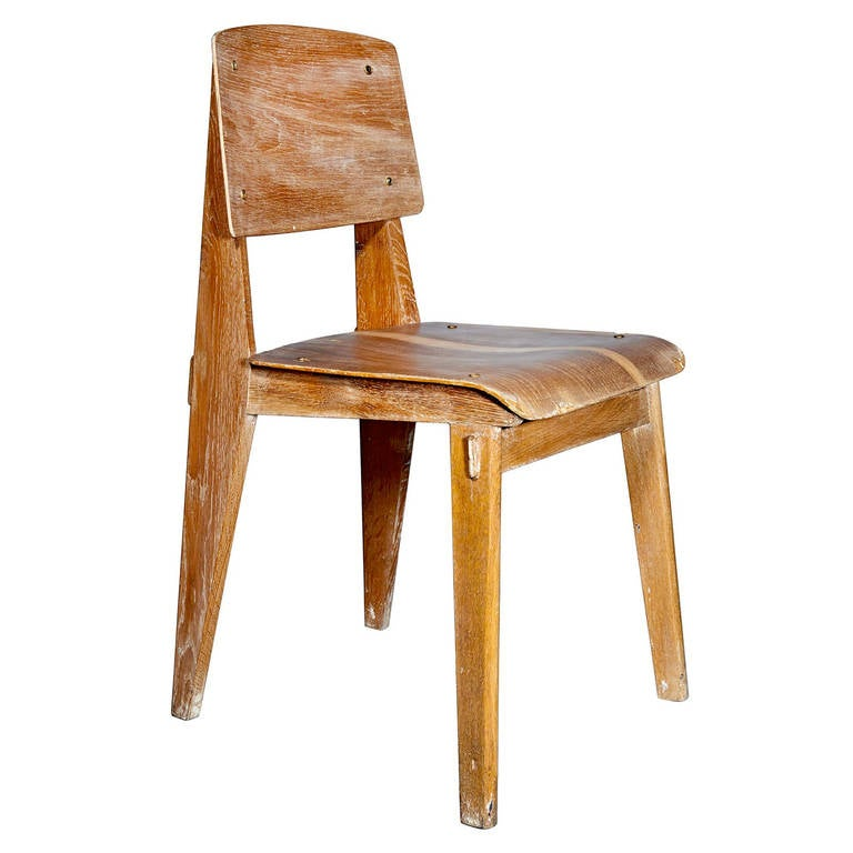 all wood chair by jean prouv. Black Bedroom Furniture Sets. Home Design Ideas
