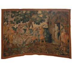 A Grand Scale 17th Century Flemish Woven Wool Tapestry