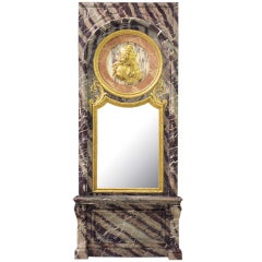 Mid-19th Century Louis XIV St. Rubané Campan Marble Console and Mirror