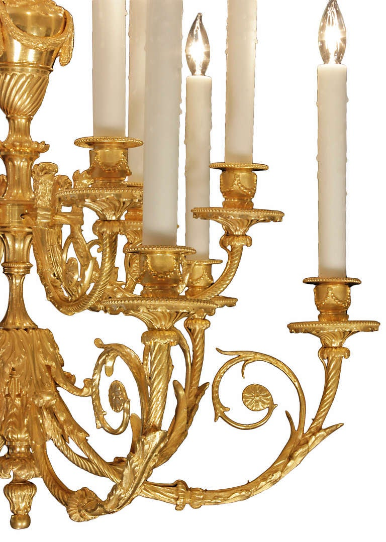 French 19th Century Louis Xvi Style Ormolu Chandelier For