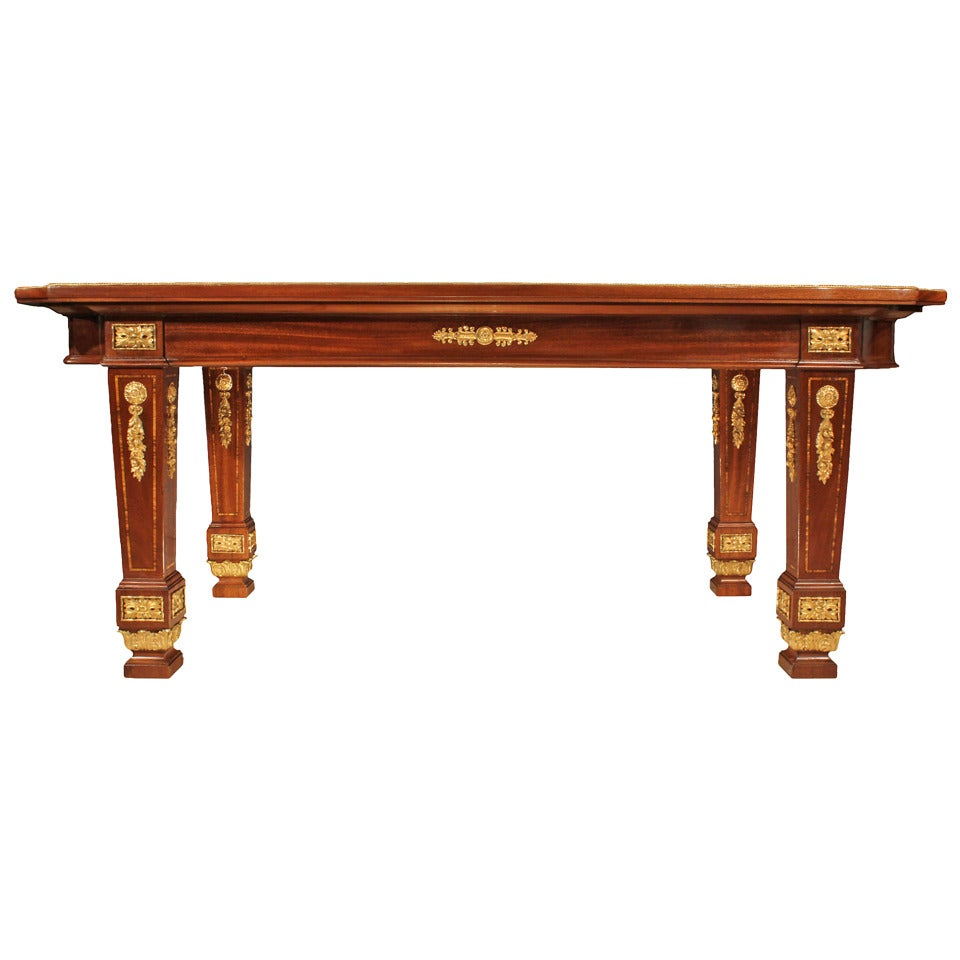 French late 19th century louis xvi style mahogany and for Table th center