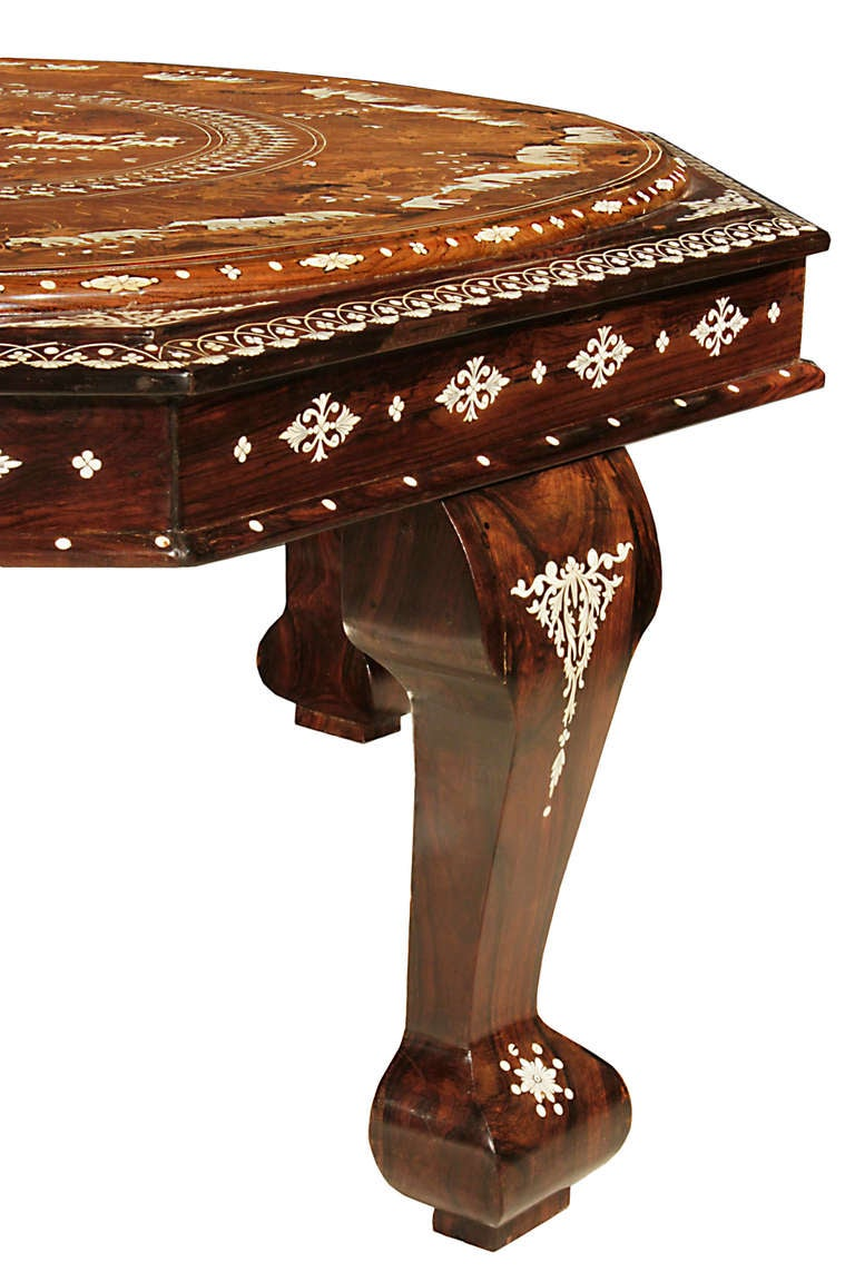 19th century anglo indian octagonal coffee table for sale for Indian coffee table