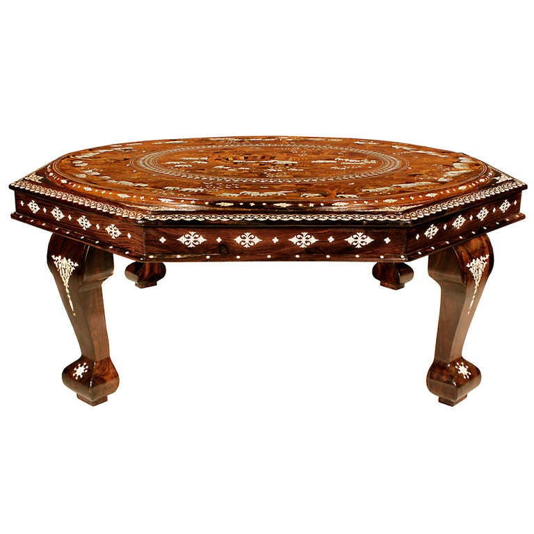 Antique Indian Coffee Tables: 19th Century Anglo-indian Octagonal Coffee Table At 1stdibs