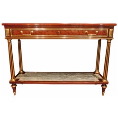 French 19th century Louis XV st. two tier dessert console