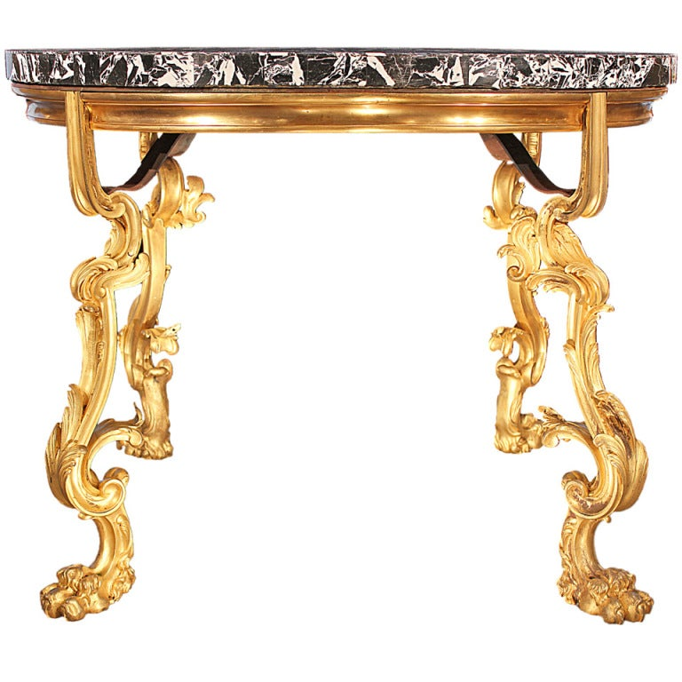 French Mid-19th Century Louis XV Style Center Table