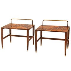 Very Rare Gio Ponti Walnut Root Veneered Side Table from Hotel Royal, 1955
