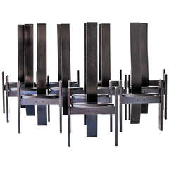 """Exclusive Set of 12 Vico Magistretti """"Golem"""" Chairs, 1969"""