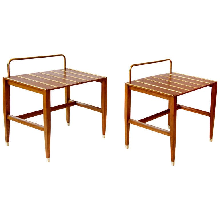 Pair of gio ponti occasional tables from hotel royal for Table 52 naples