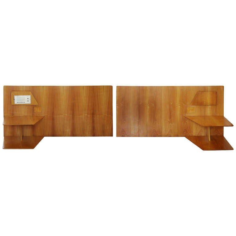 Pair Of Gio Ponti Headboards From Hotel Royal Naples 1955