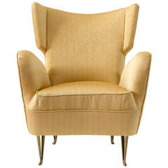 Elegant Armchair by Isa Bergamo, 1950