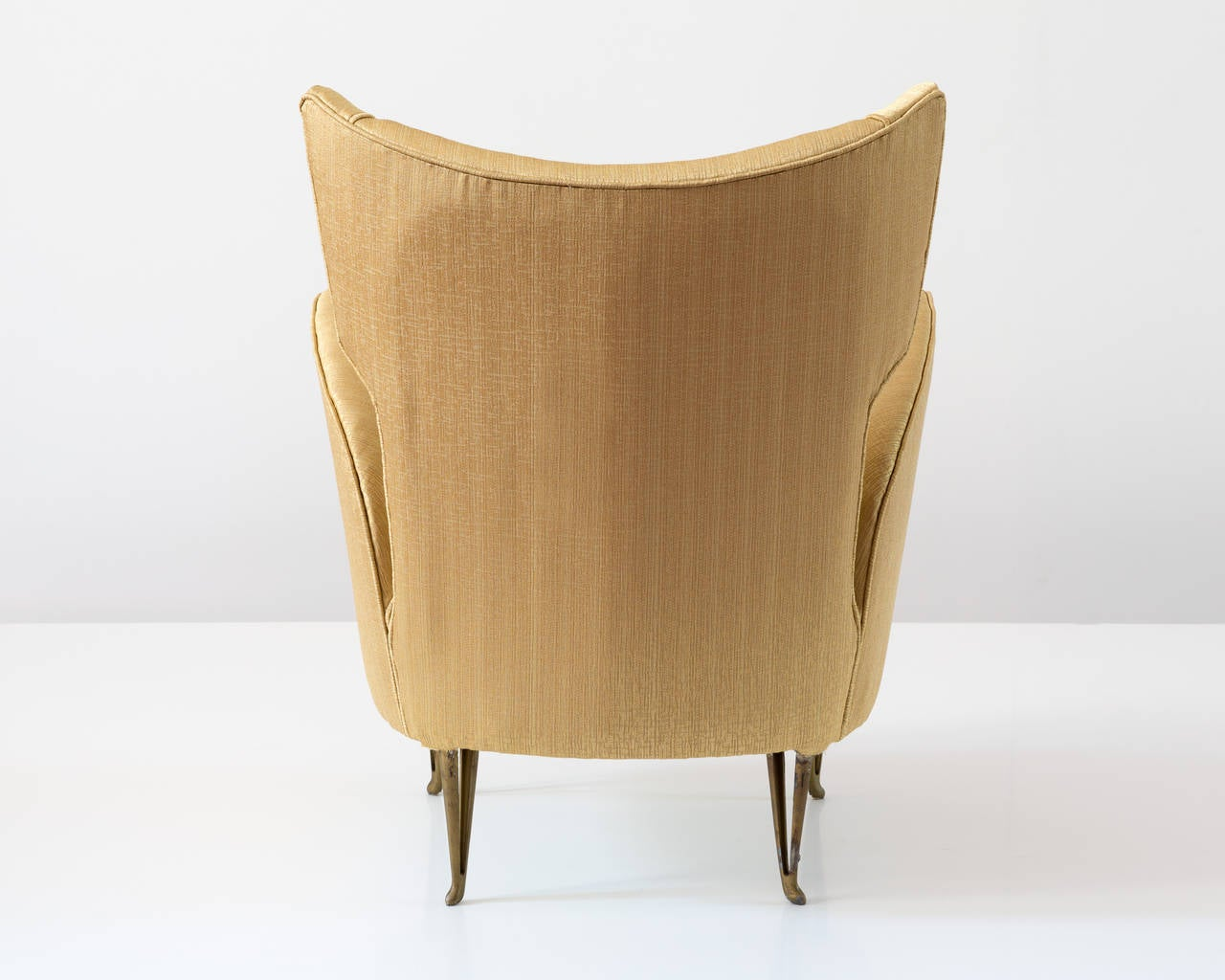 Elegant Italian Modern Yellow Armchair by Isa Bergamo, 1950 For Sale 2