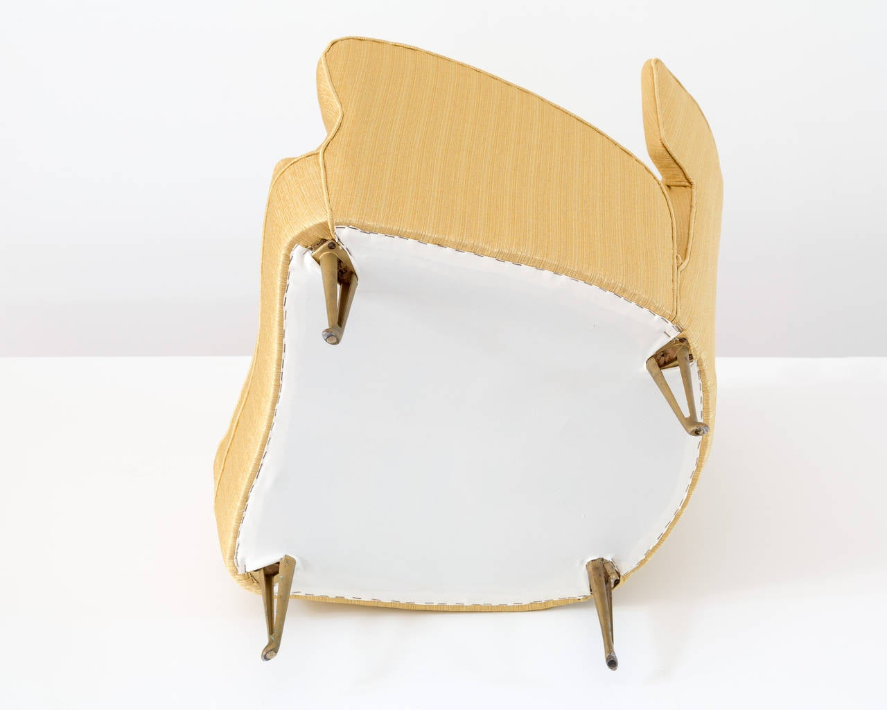 Elegant Italian Modern Yellow Armchair by Isa Bergamo, 1950 For Sale 3