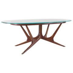 Sculptural Italian Dining Table, circa 1940