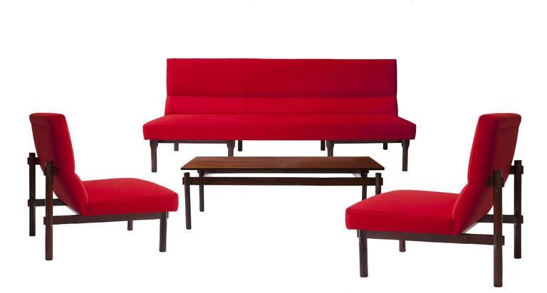 "Rare Ico & Luisa Parisi Large Sofa ""869"" by Cassina, 1960 For Sale 2"