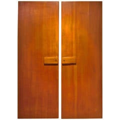 Rare Pair of Gio Ponti Wardrobe Doors, 1955