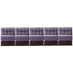 "Gorgeous Italian Five Pieces Sectional ""Gooseneck Sofa,"" 1970"