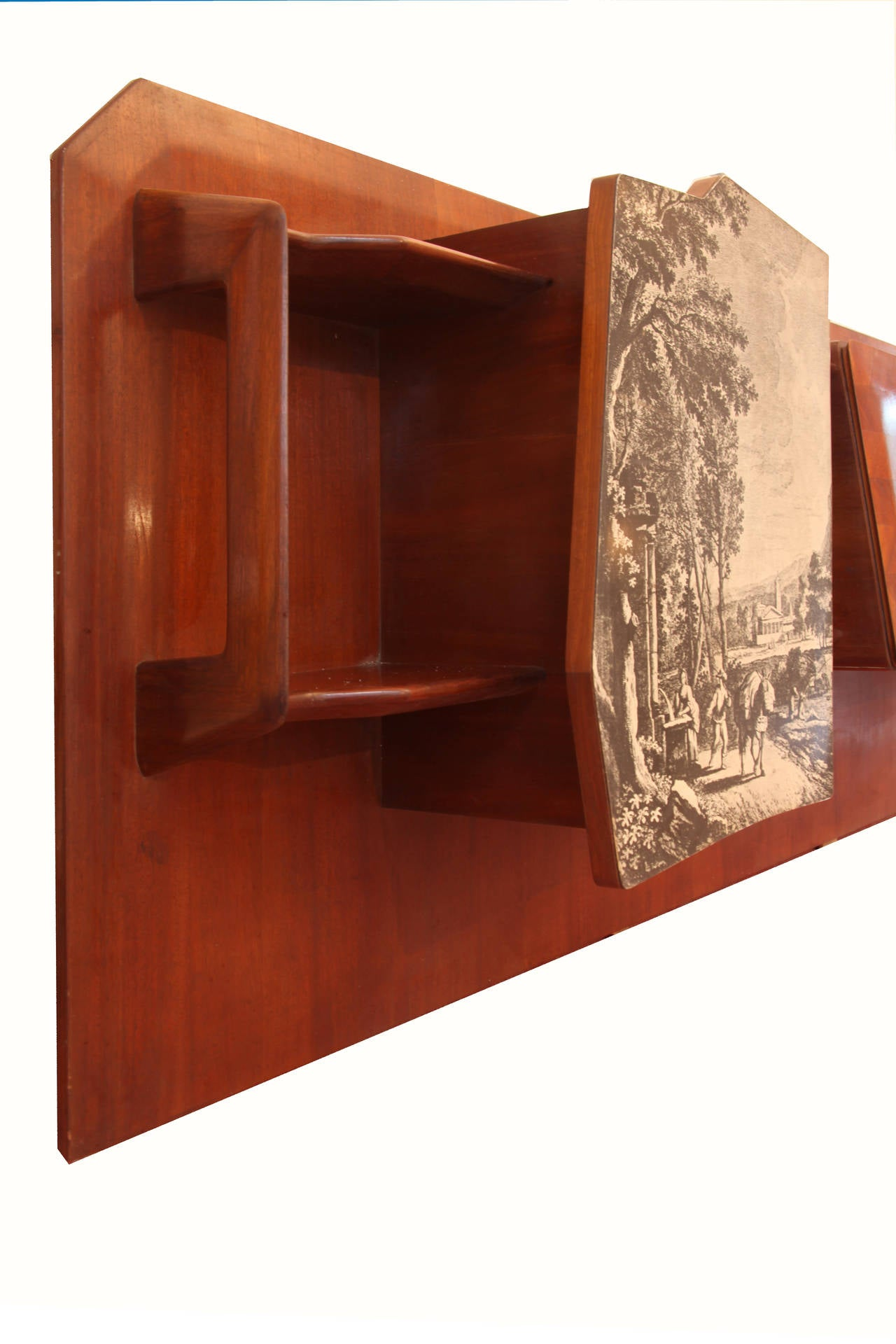 Large Dassi Wall Unit Bookcase, Circa 1940, Part Of A Living Room 2