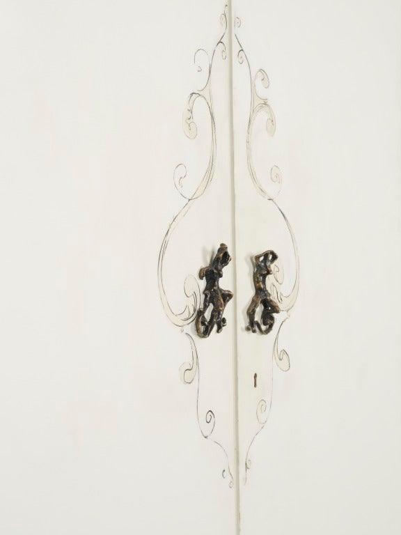 Rare Lucio Fontana Pair of Doors, 1952 In Excellent Condition For Sale In Rome, IT