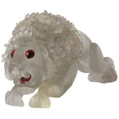 Extremely Rare Flavio Poli Glass Lion, 1930