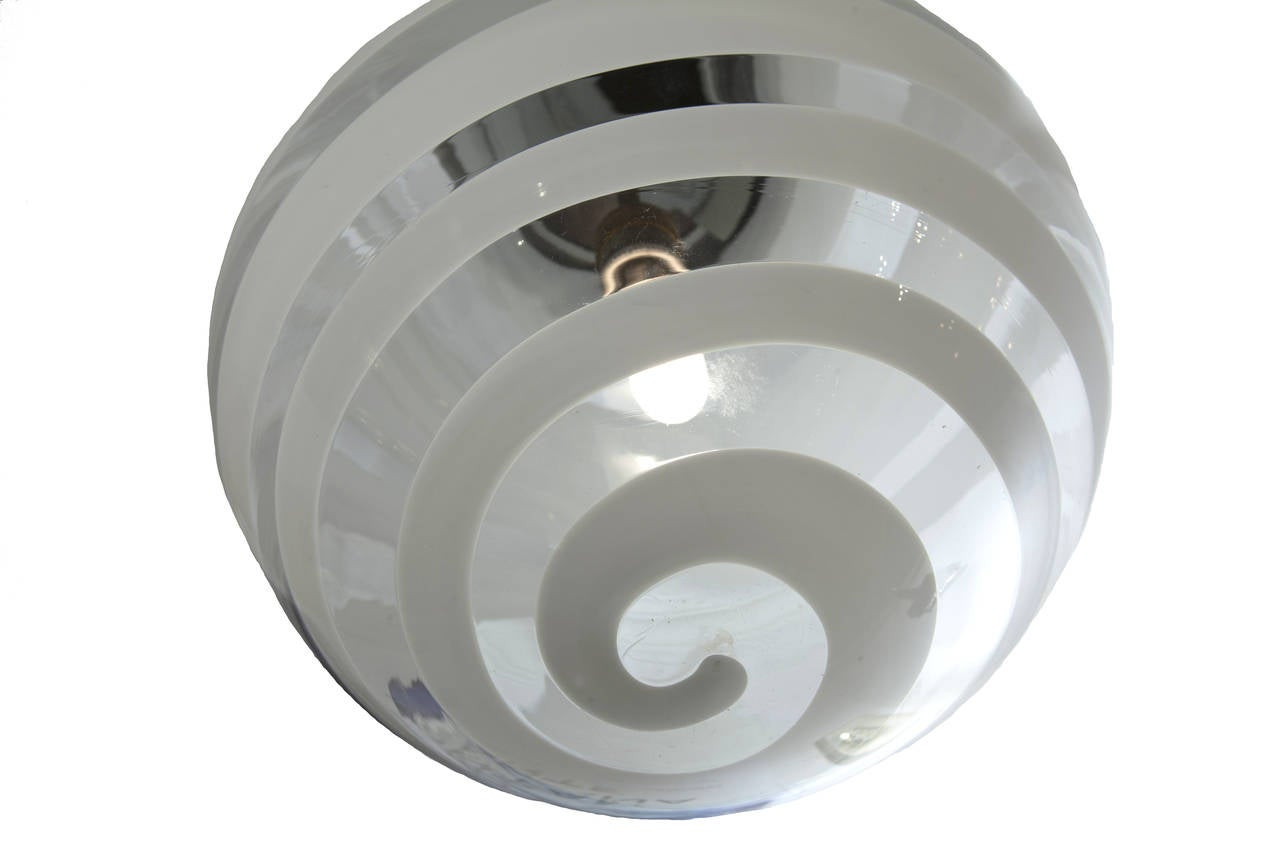 Mid-20th Century Carlo Scarpa Ceiling Lamp by Venini, 1938 For Sale