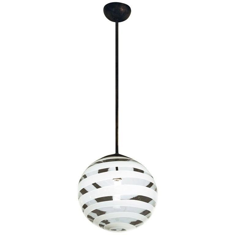 Carlo Scarpa Ceiling Lamp by Venini, 1938 For Sale