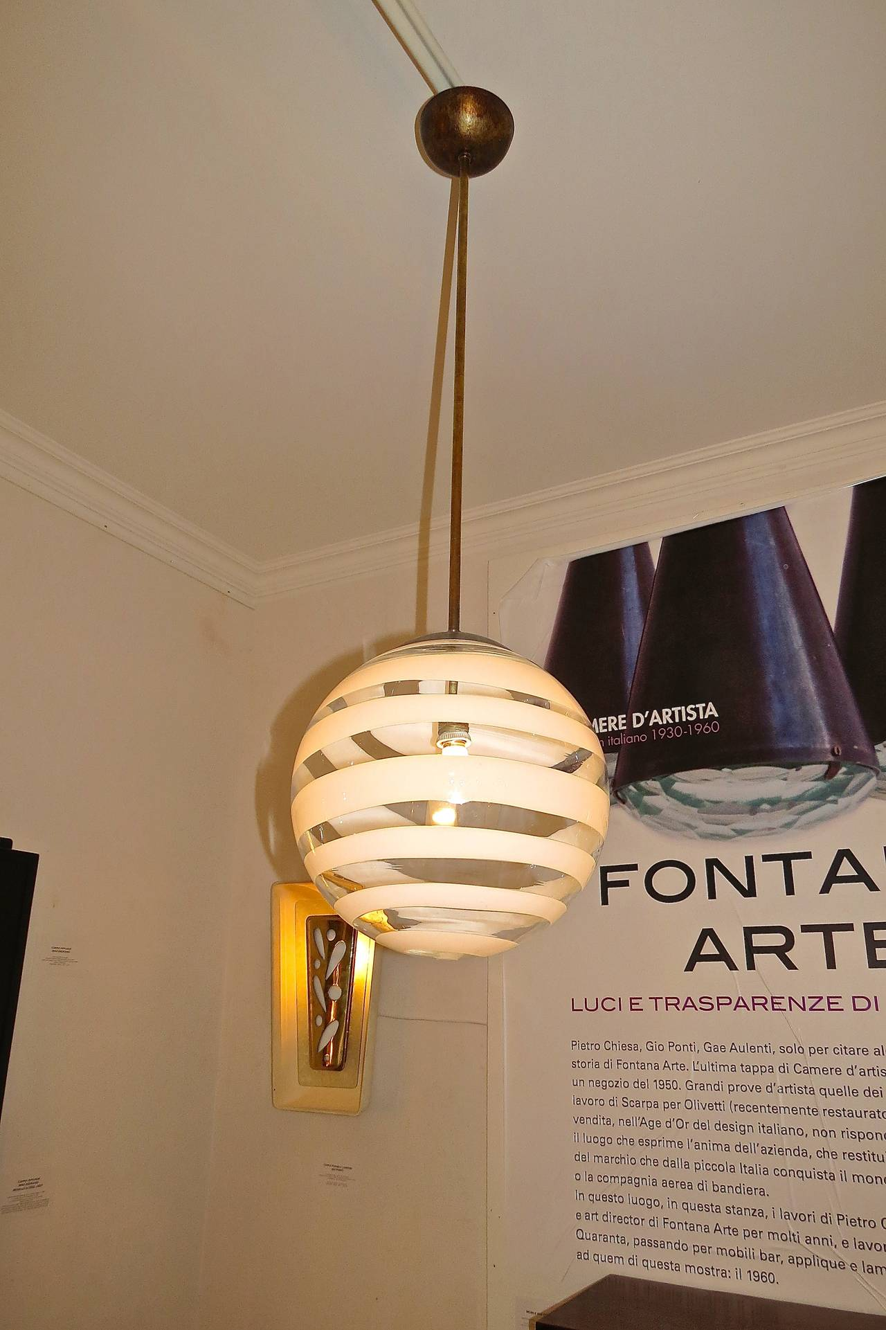 Carlo Scarpa Ceiling Lamp by Venini, 1938 For Sale 1