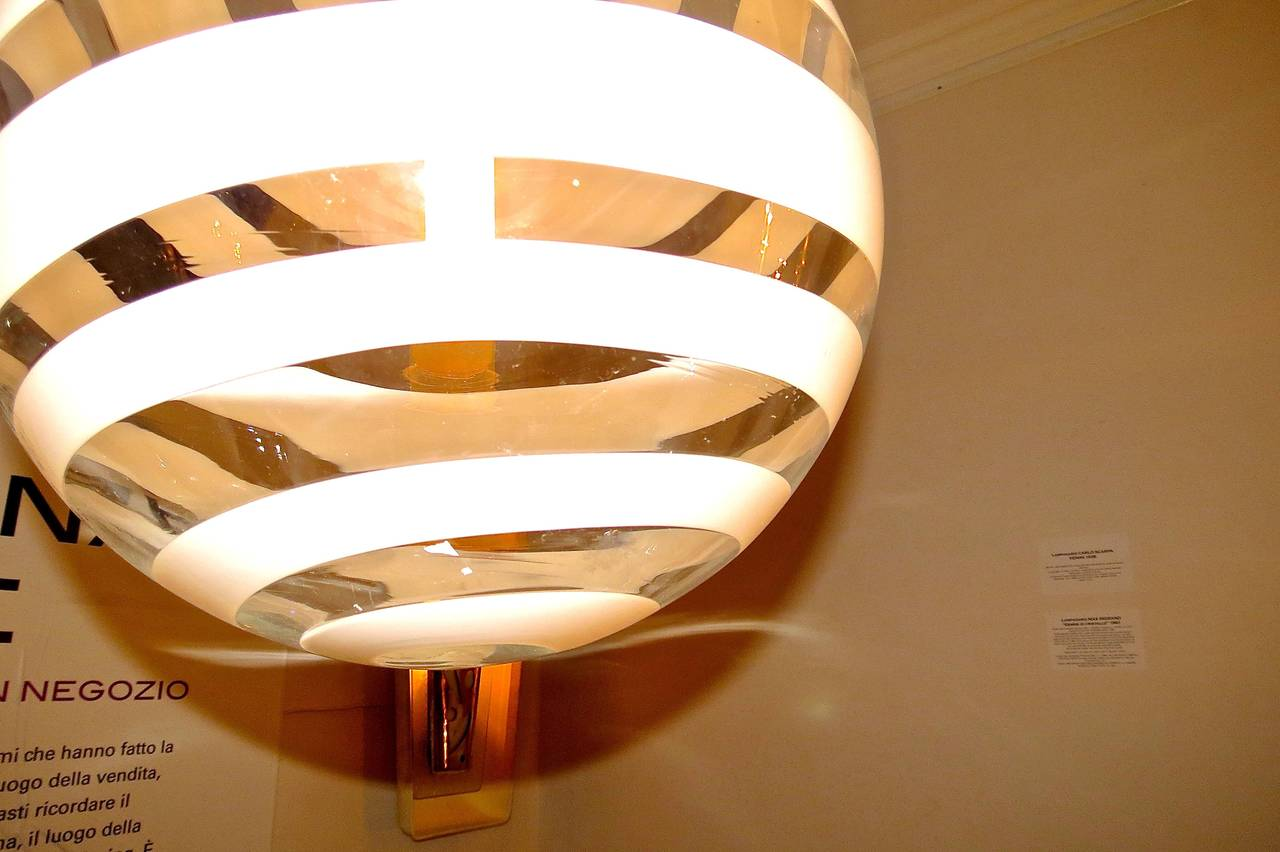 Carlo Scarpa Ceiling Lamp by Venini, 1938 For Sale 2