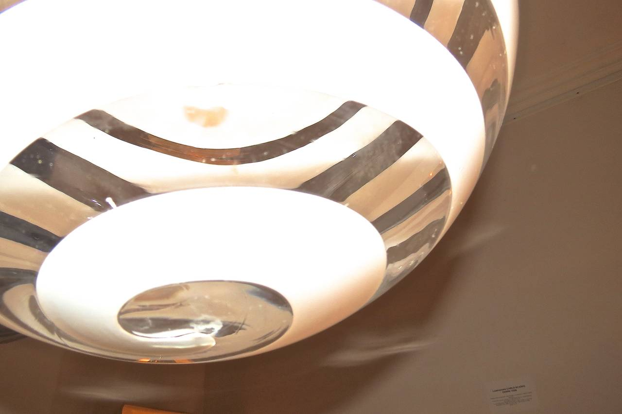 Carlo Scarpa Ceiling Lamp by Venini, 1938 For Sale 3