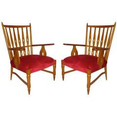 Pair Paolo Buffa Lounge Chairs