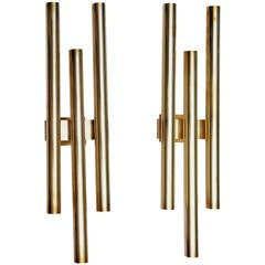 Pair of Gio Ponti Brass Sconces by Candle