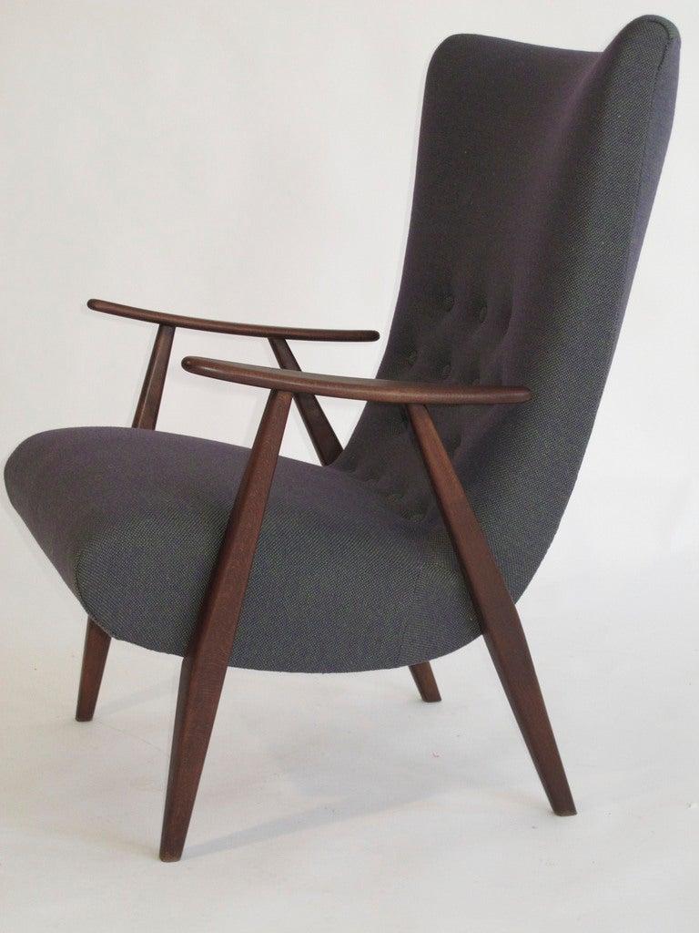 Comscandinavian Chair Design : Scandinavian Modern Highback Lounge Chair at 1stdibs