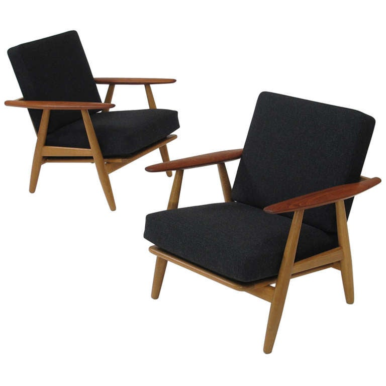 Hans Wegner Cigar Lounge Chairs 1 - Hans Wegner Cigar Lounge Chairs At 1stdibs