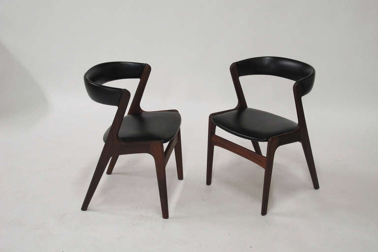 Ten Kai Kristiansen Danish Dining Chairs At 1stdibs